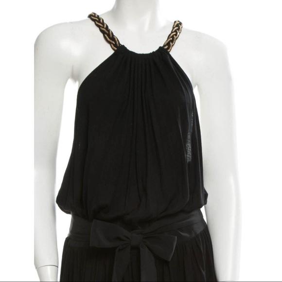 00ce4c3638 Chloe Greek goddess gown, black silk blend jersey